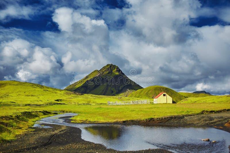 Trekking in Island stockfotografie