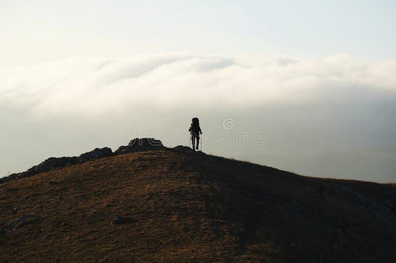 Trekking in Krim stockfoto