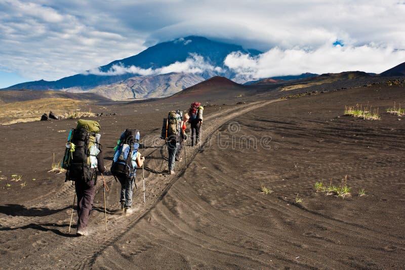 Trekking na Kamchatka. zdjęcie royalty free