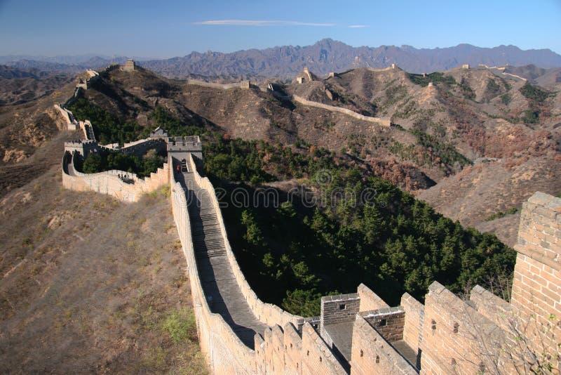 Trekking na wielkim murze. zdjęcie royalty free