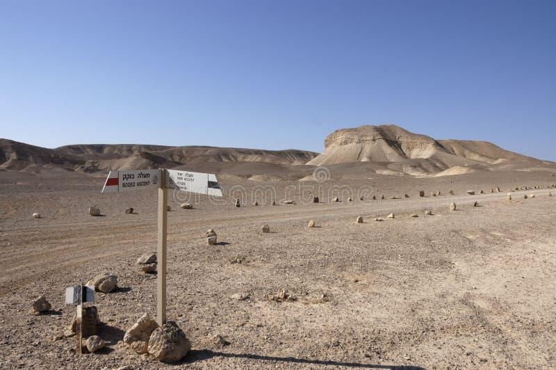 Trekking In Negev Desert, Israel. Stock Photos