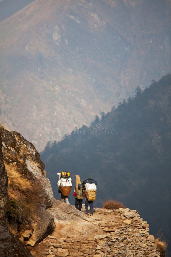 Trekking in Nepal stockfotografie