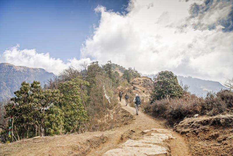 Trekking in Nepal royalty-vrije stock foto's
