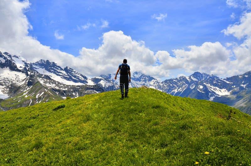 Trekking nos cumes de França imagens de stock royalty free