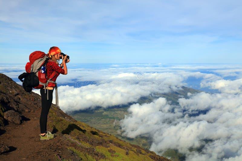 Trekking on Pico Volcano royalty free stock image