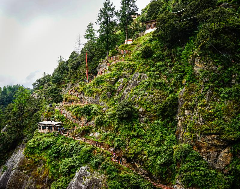 Mountain scenery in Kingdoom of Bhutan stock image
