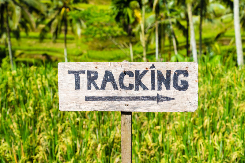 Trekking sign royalty free stock photography