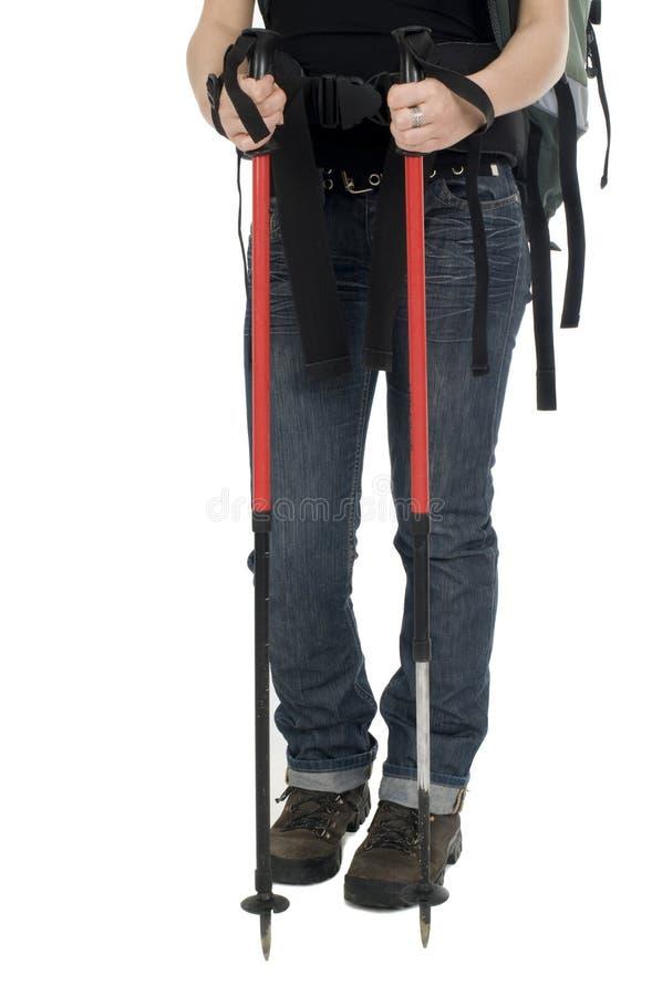 Download Trekking sticks stock image. Image of shoes, road, preparation - 11257357