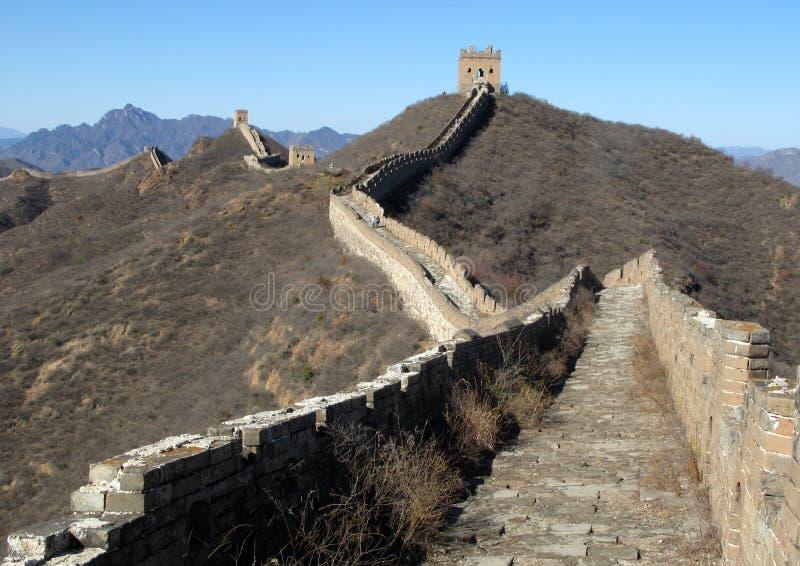 Trekking sur la Grande Muraille. image libre de droits