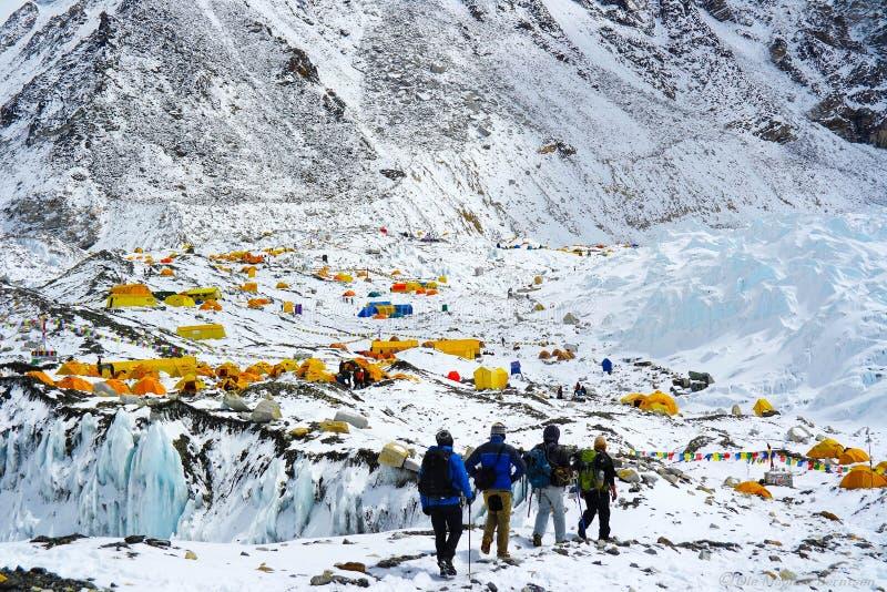 Trekking to Everest Base Camp stock photography