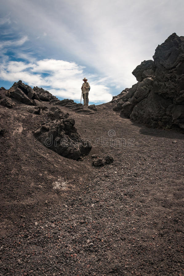 Trekking Vocano Pacaya nel Guatemala immagini stock