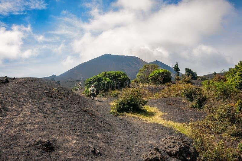 Trekking Volcano Pacaya nel Guatemala fotografie stock