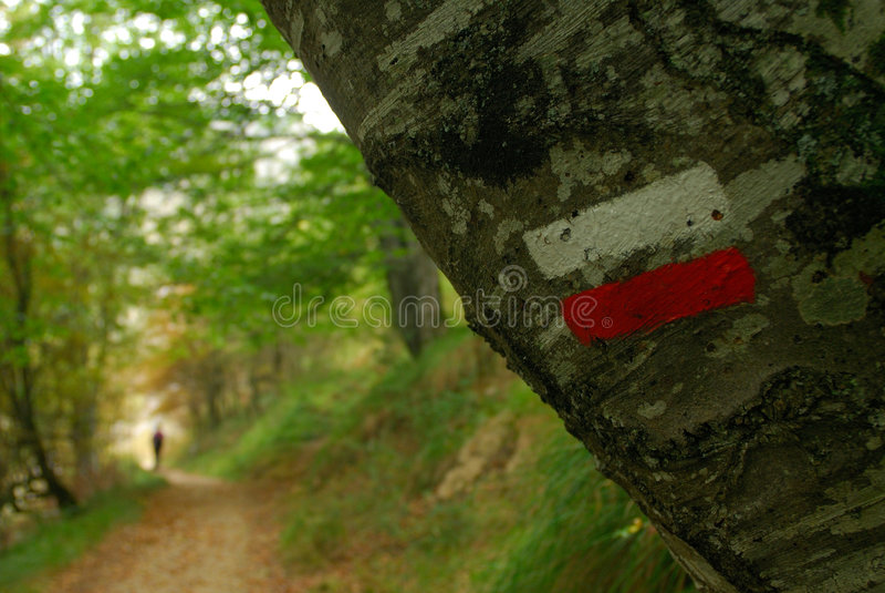 Trekkingmarkierungen lizenzfreie stockbilder