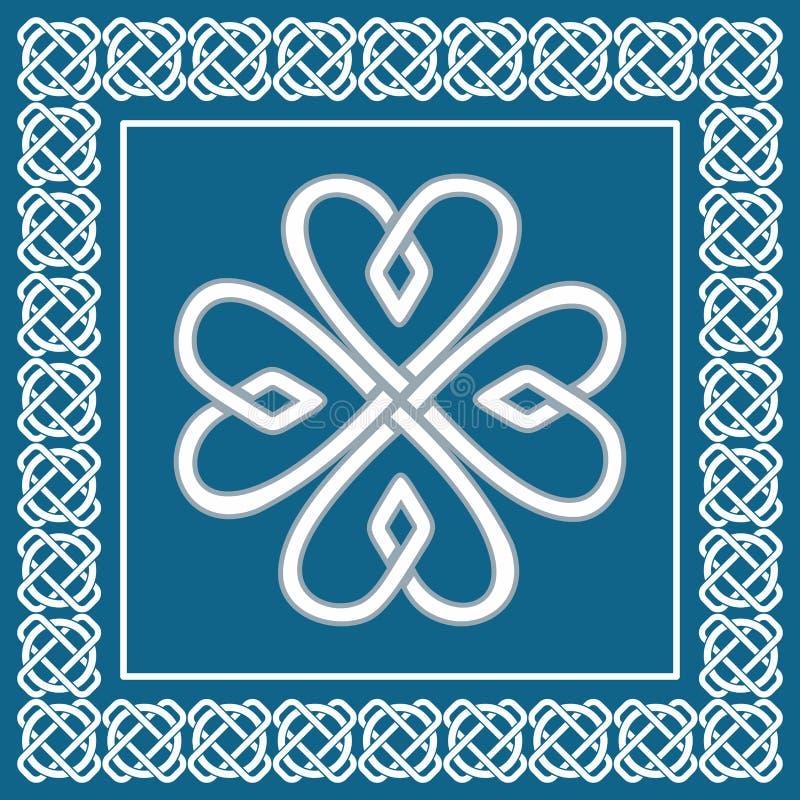 Treklöver - celtic fnuren, traditionellt irländskt symbol, vektor vektor illustrationer