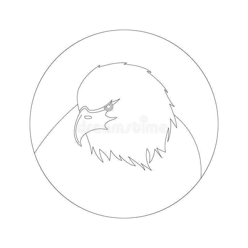 Trekt de hoofd, vectorillustratie van Eagle, het voeren, royalty-vrije stock foto