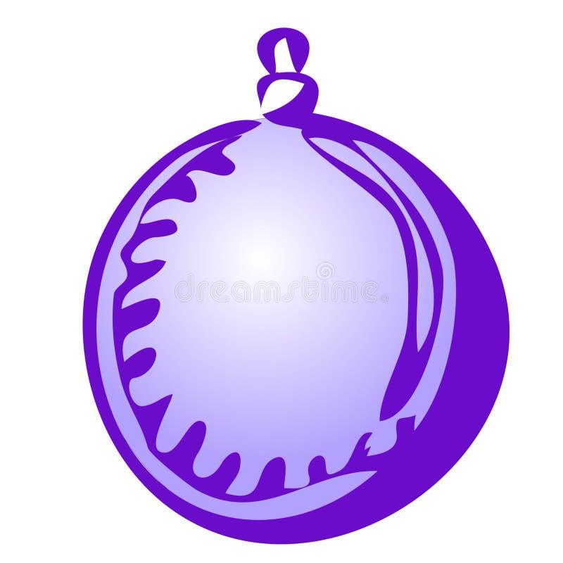 Trekt de vector geïsoleerde hand Kerstmisstuk speelgoed gebied op een witte achtergrond stock illustratie