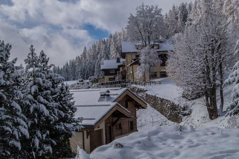 Trelechamps, chamonix, haute Savoie, Frankrijk stock fotografie