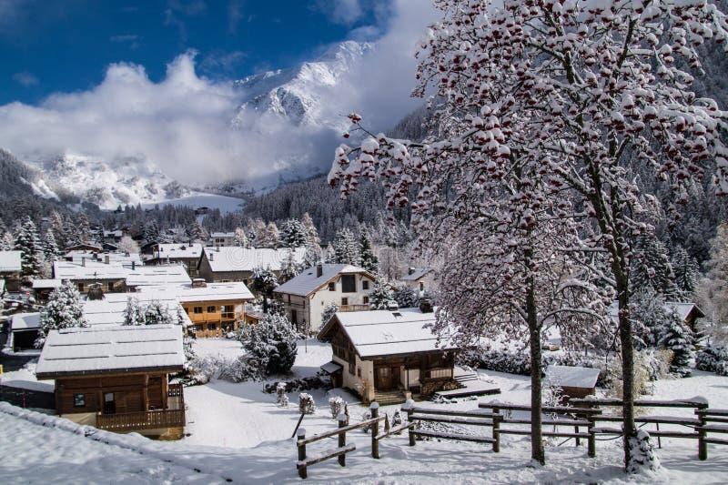 Trelechamps, Chamonix, Saboya haute, Francia fotos de archivo