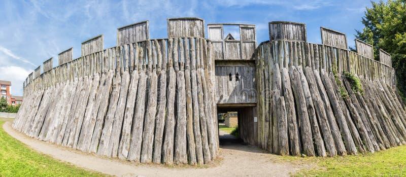 Trelleborg Viking Fort stock afbeelding