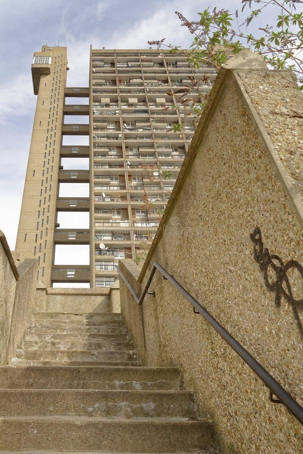 Trellick塔伦敦,野兽派Arquitecture 库存照片