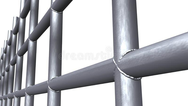 Trellis soudé par acier illustration stock