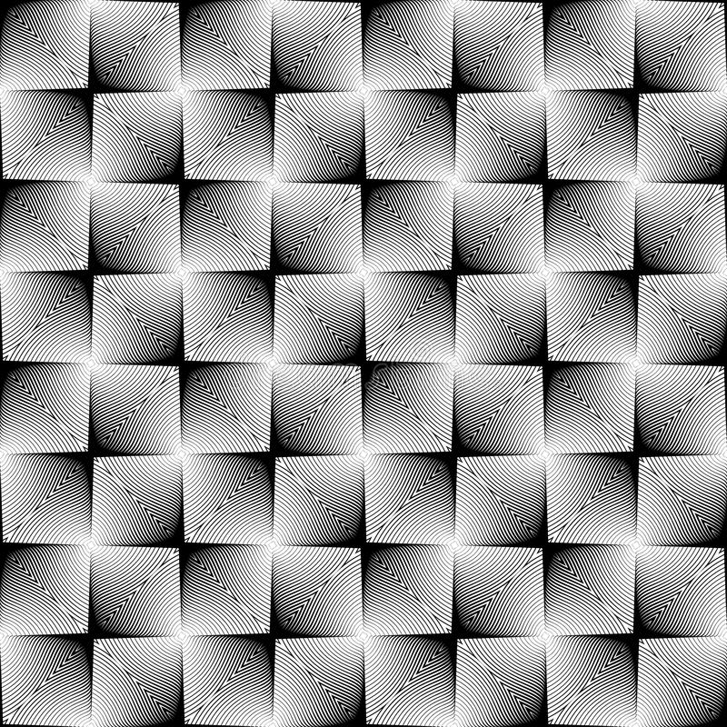 Trellised het ontwerp naadloze vierkant patroon vector illustratie