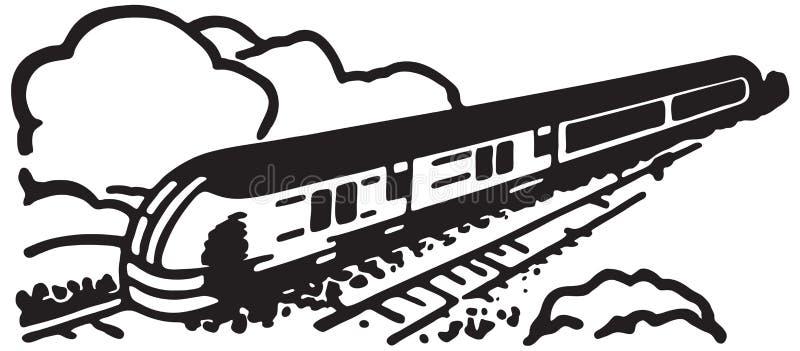Trem 2 ilustração royalty free