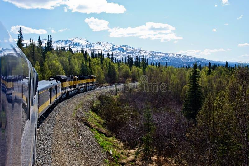 Trem através de Alaska foto de stock royalty free