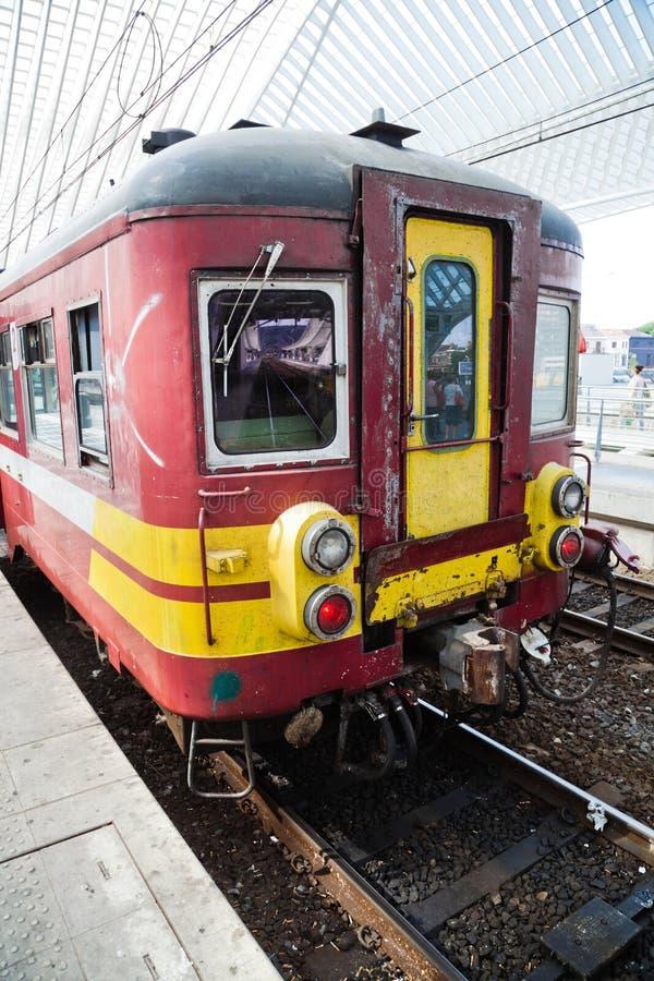 Trem belga velho foto de stock
