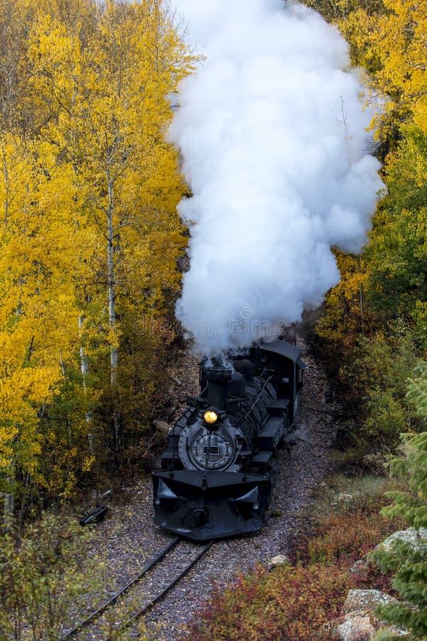 Trem cênico do vapor de Cumbres & de Toltec, Chama, New mexico a Antoni imagens de stock royalty free