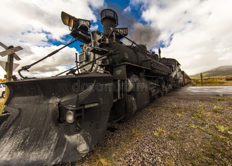 Trem cênico do vapor de Cumbres & de Toltec, Chama, New mexico a Antoni fotos de stock royalty free