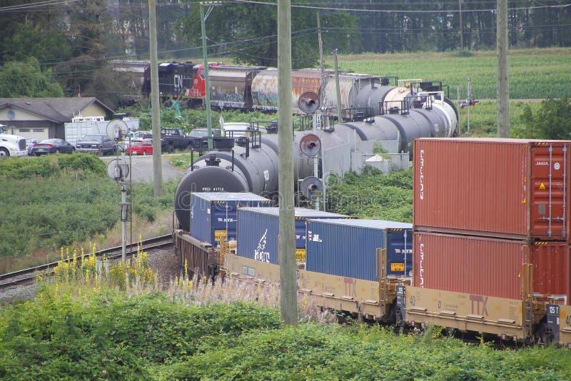 Trem canadense e expedições amplas fotos de stock royalty free