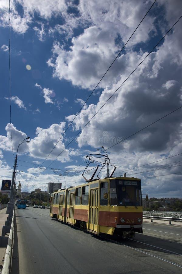 Trem da cidade de Ucrânia foto de stock royalty free