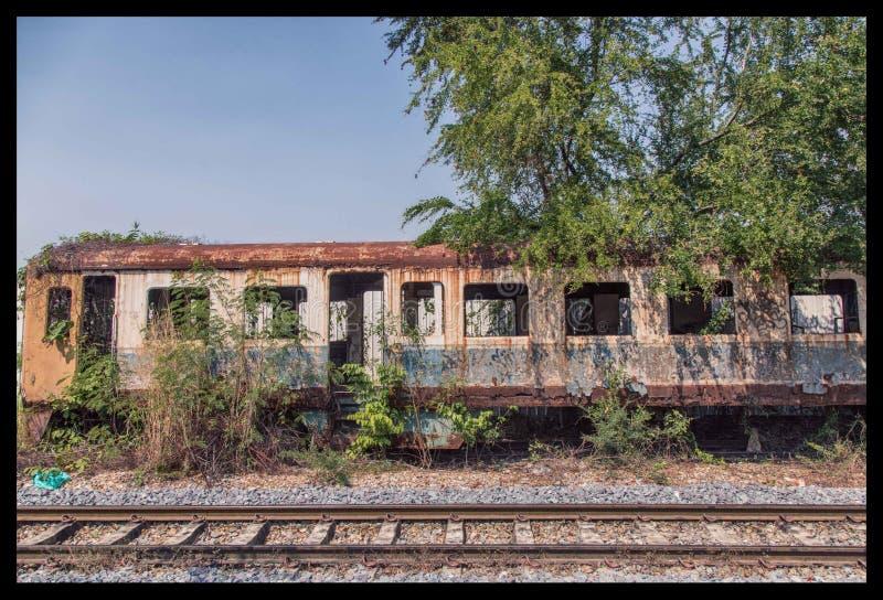 Trem da deterioração foto de stock