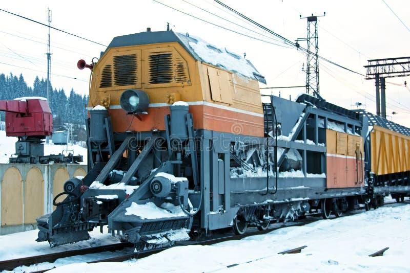 Trem da neve foto de stock royalty free