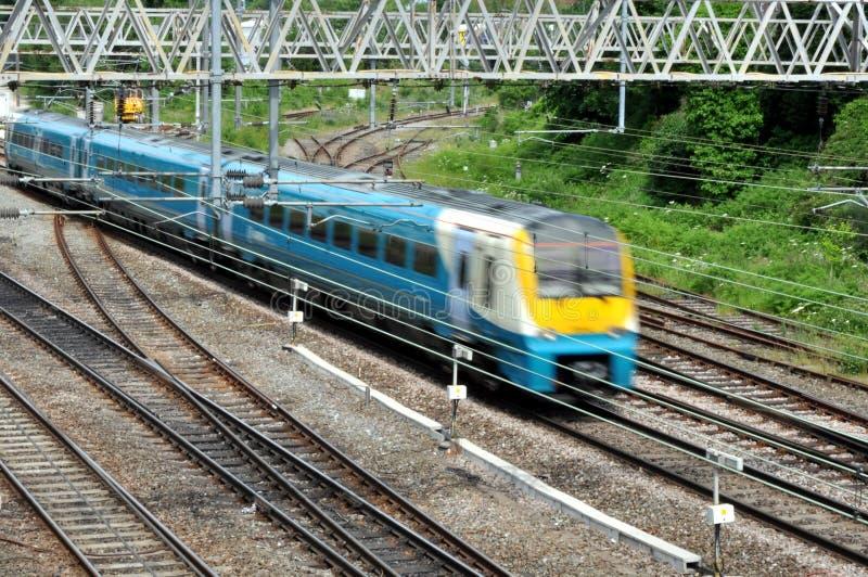 Trem da periferia fotografia de stock