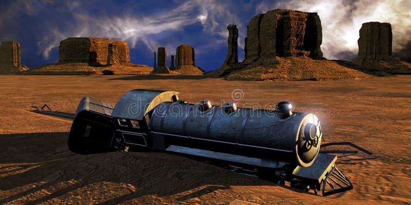 Trem de Abadoned ilustração do vetor