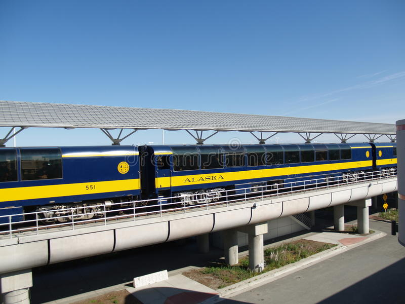 Trem de Alaska fotos de stock