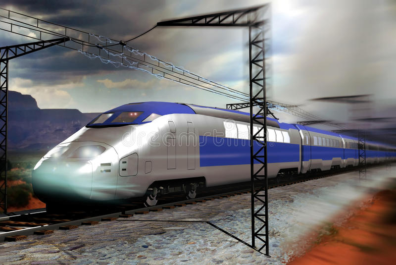 Trem de alta velocidade ilustração stock
