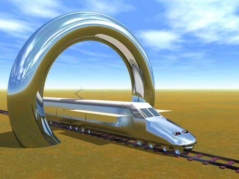 Trem de alta velocidade ilustração royalty free