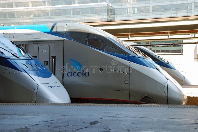 Trem de alta velocidade Acela de Amtrak foto de stock royalty free