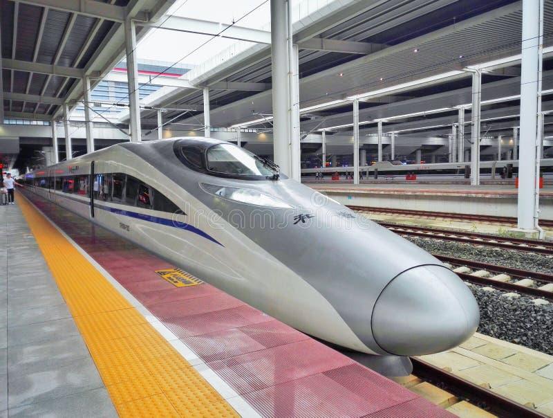 Trem de alta velocidade de China imagem de stock royalty free