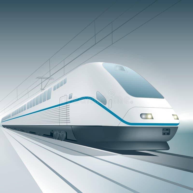 Trem de alta velocidade de China ilustração royalty free