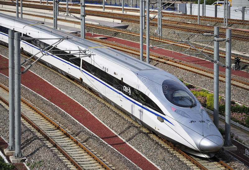 Trem de alta velocidade de China, estrada de ferro fotografia de stock royalty free