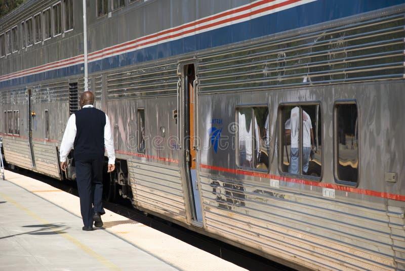 Trem de Amtrak imagens de stock royalty free