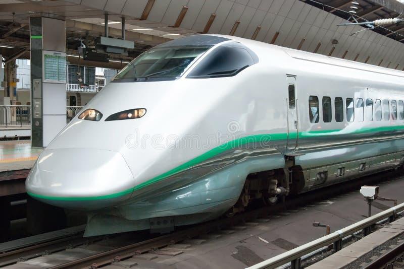 Trem de bala de Shinkansen fotografia de stock