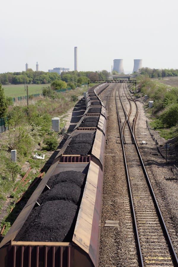 Trem de carvão foto de stock