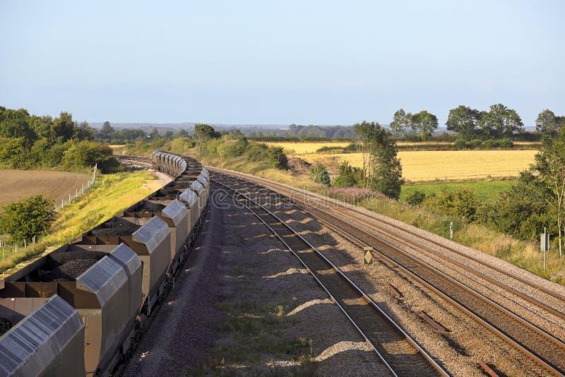 Trem de carvão imagens de stock