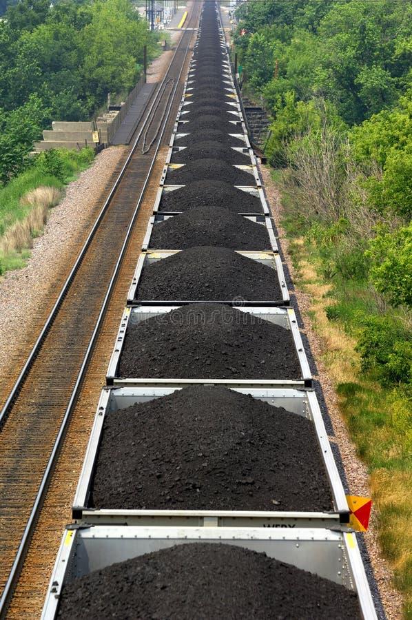 Trem de carvão fotos de stock royalty free