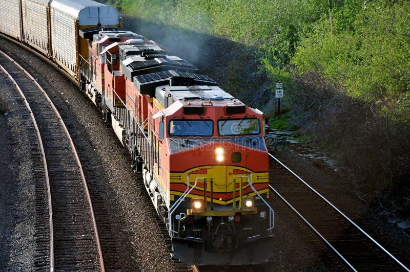 Trem de frete. imagem de stock